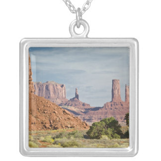 USA, Utah, Monument Valley Navajo Tribal Park. Silver Plated Necklace
