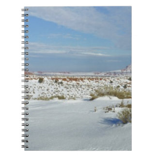 USA, Utah, Monument Valley. Sagebrush shows Spiral Notebook