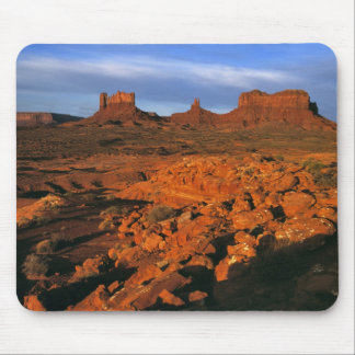 USA, Utah, Monument Valley. Sunset light Mouse Pad