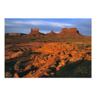 USA, Utah, Monument Valley. Sunset light Photo Print