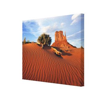 USA, Utah, Monument Valley. Wind creates Canvas Print