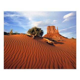 USA, Utah, Monument Valley. Wind creates Photo Art