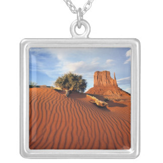 USA, Utah, Monument Valley. Wind creates Silver Plated Necklace