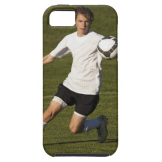 USA, Utah, Orem, teenage (14-15) boy playing iPhone 5 Case