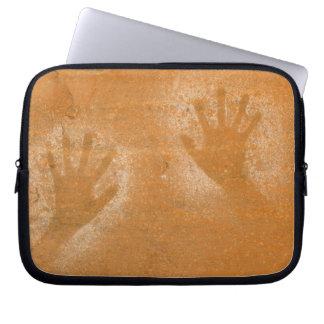 USA, Utah, Pictograph Hand-prints on sandstone, Laptop Sleeve