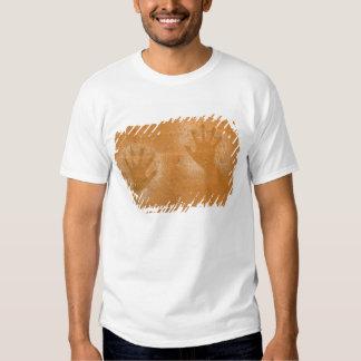 USA, Utah, Pictograph Hand-prints on sandstone, Shirts