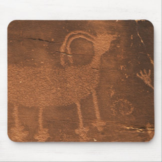 USA, Utah. Prehistoric petroglyph rock art at 2 Mouse Pad