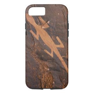 USA, Utah. Prehistoric petroglyph rock art at iPhone 7 Case