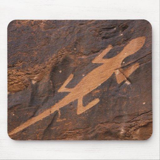 USA, Utah. Prehistoric petroglyph rock art at Mousepads