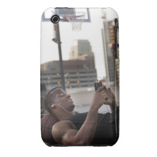 USA, Utah, Salt Lake City, Young man lying on iPhone 3 Case-Mate Cases