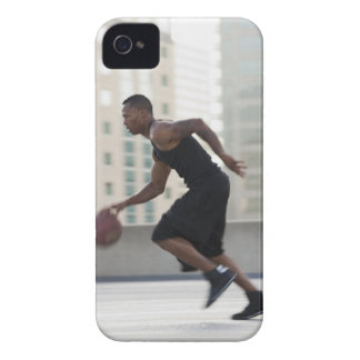 USA, Utah, Salt Lake City, Young man playing iPhone 4 Case