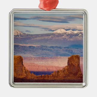 USA, Utah. Scenic of La Sal Mountains from Dead Christmas Ornament