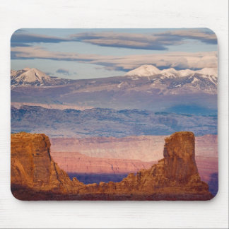 USA, Utah. Scenic of La Sal Mountains from Dead Mouse Mat