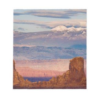 USA, Utah. Scenic of La Sal Mountains from Dead Notepad