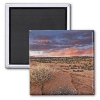 USA, Utah. Sunset on Poison Spider Mesa near Square Magnet