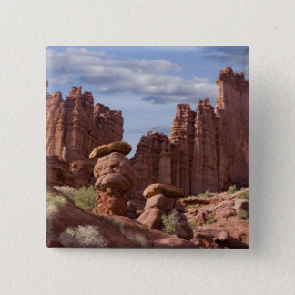 USA, Utah. View of Fisher Towers. Credit as: Don 15 Cm Square Badge
