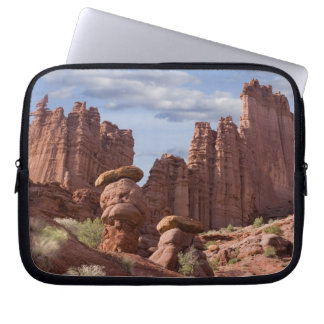 USA, Utah. View of Fisher Towers. Credit as: Don Laptop Sleeve