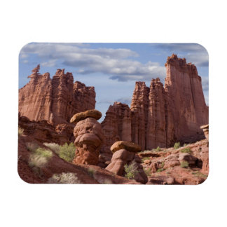 USA, Utah. View of Fisher Towers. Credit as: Don Rectangular Photo Magnet