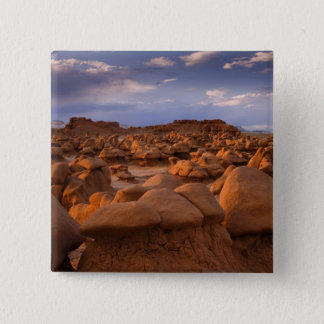 USA; Utah. View of Goblin Valley State Park at 15 Cm Square Badge