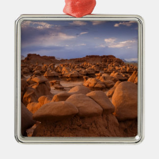 USA; Utah. View of Goblin Valley State Park at Silver-Colored Square Decoration