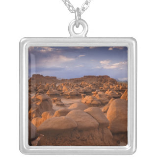 USA; Utah. View of Goblin Valley State Park at Silver Plated Necklace