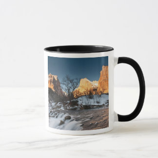 USA, Utah, Zion National Park. Mountain sunrise Mug