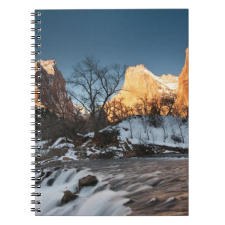 USA, Utah, Zion National Park. Mountain sunrise Spiral Notebook