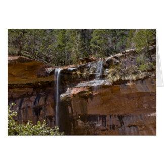 USA, Utah, Zion National Park, Water Falls at Card