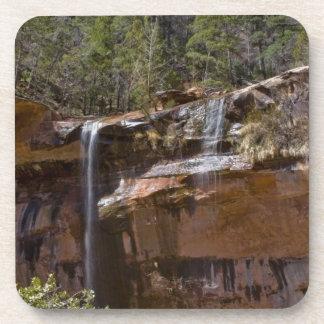 USA, Utah, Zion National Park, Water Falls at Drink Coasters
