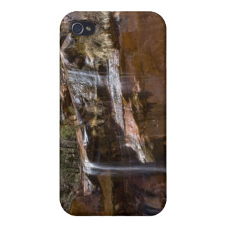 USA, Utah, Zion National Park, Water Falls at iPhone 4 Cases