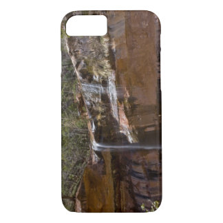 USA, Utah, Zion National Park, Water Falls at iPhone 8/7 Case