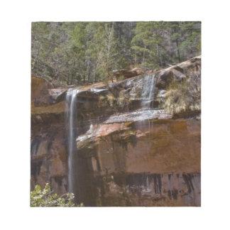 USA, Utah, Zion National Park, Water Falls at Notepads