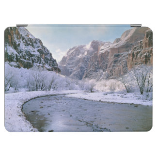 USA, Utah, Zion NP. New snow covers the canyon iPad Air Cover