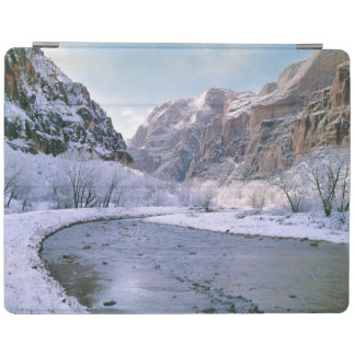 USA, Utah, Zion NP. New snow covers the canyon iPad Cover