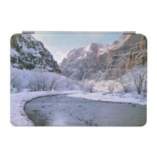 USA, Utah, Zion NP. New snow covers the canyon iPad Mini Cover