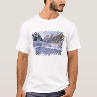 USA, Utah, Zion NP. New snow covers the canyon T-Shirt