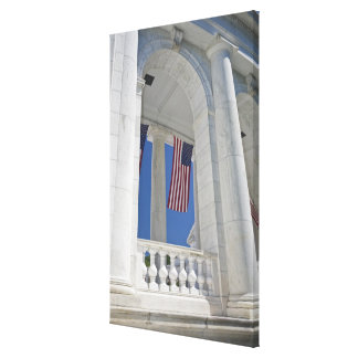 USA, VA, Arlington. American Flags are hung Canvas Print