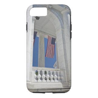 USA, VA, Arlington. American Flags are hung iPhone 8/7 Case