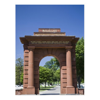USA, VA, Arlington. McClellan Gate at Arlington Postcard