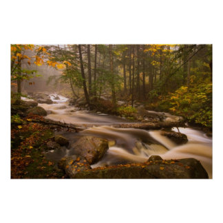 USA, Vermont, East Arlington, Flowing streams 2 Poster