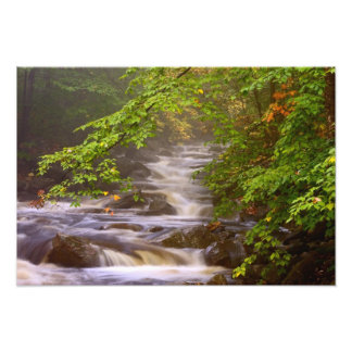 USA, Vermont, East Arlington, Flowing streams Photo Print