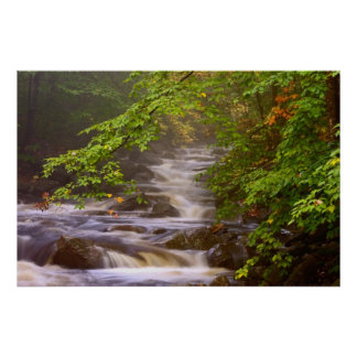 USA, Vermont, East Arlington, Flowing streams Poster