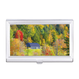 USA, Vermont. Fall foilage along Highway 100. Business Card Holder
