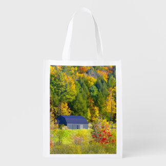 USA, Vermont. Fall foilage along Highway 100. Reusable Grocery Bag