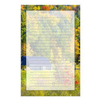 USA, Vermont. Fall foilage along Highway 100. Stationery