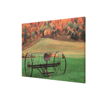 USA, Vermont, Farm. Canvas Print