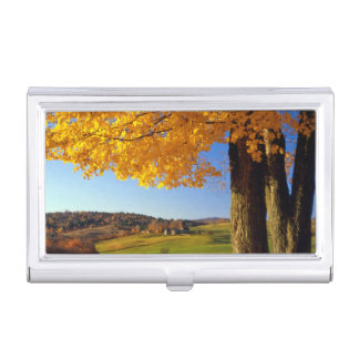 USA, Vermont. Farm Scenic Near South Woodstock Business Card Holder
