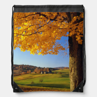 USA, Vermont. Farm Scenic Near South Woodstock Drawstring Bag