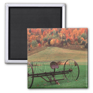 USA, Vermont, Farm. Square Magnet