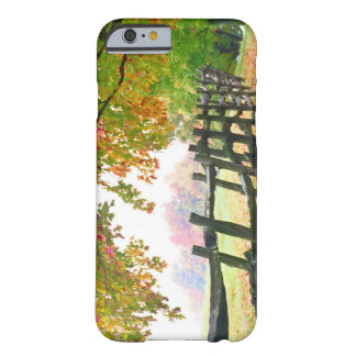 USA, Vermont. Fence under fall foliage. Barely There iPhone 6 Case